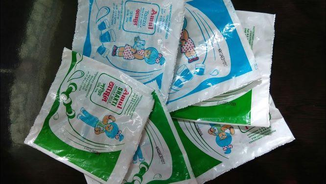 Plastic Milk Pouches