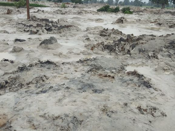 ash pond of Essar's coal-fired power plant in Madhya Pradesh's Singrauli distric