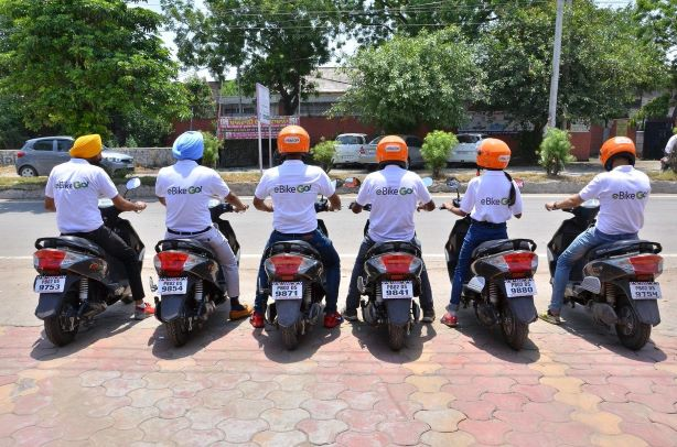 ebikego team on scooters