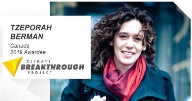 Canada's Tzeporah Berman Wins Climate Breakthrough Award 2019