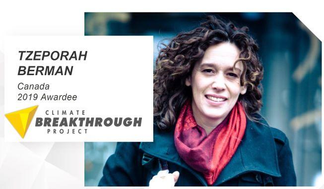 Canada's Tzeporah Berman Wins Climate Breakthrough Award 2019