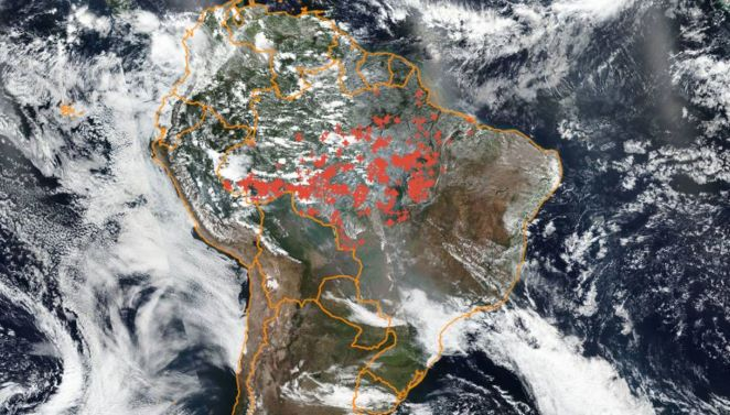 European Space Agency Records Increased Pollution After Amazon Fires