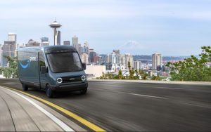 Amazon orders Rivian Electric Delivery Vehicles