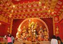 Eco-friendly Durga Puja Pandal in Delhi's Dwarka.