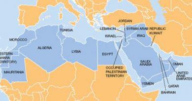map of MENA region