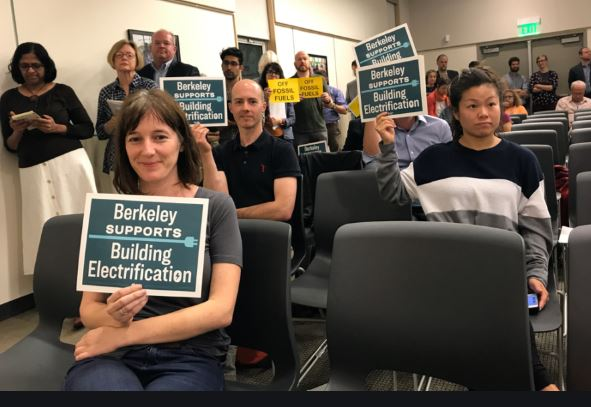 Supporters of gas Ban in Berkeley