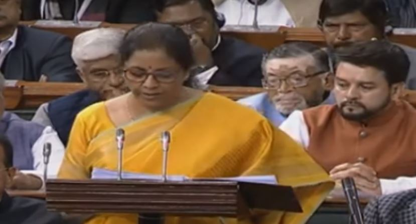Nirmala Sitharaman presents the 2020 budget