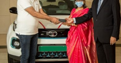 N Chandrsekaran takes delivery of a new car