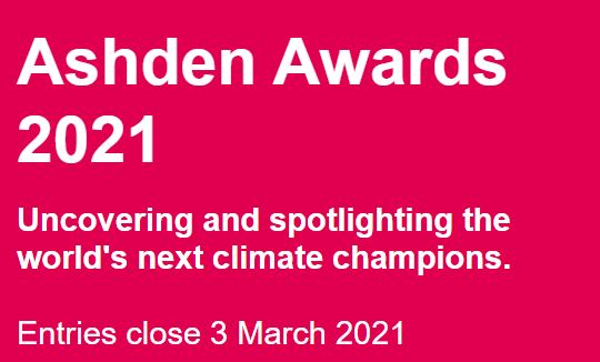 2021 Ashden Awards To Tackle Global Climate Challenges